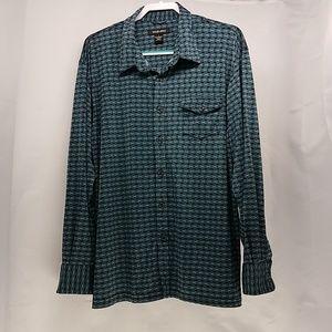 Morano Men's L Dress shirt Teal Wrinkle Free